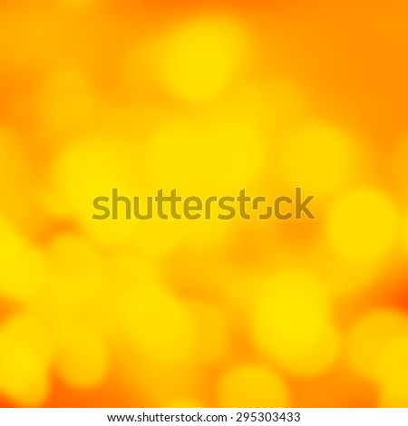 Orange Abstract Bokeh Lights as festive background or texture.Holiday, party  background. - stock photo