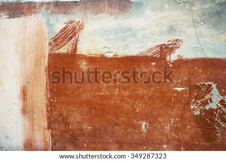 Orange abstract brushed surface. Vintage effect. - stock photo