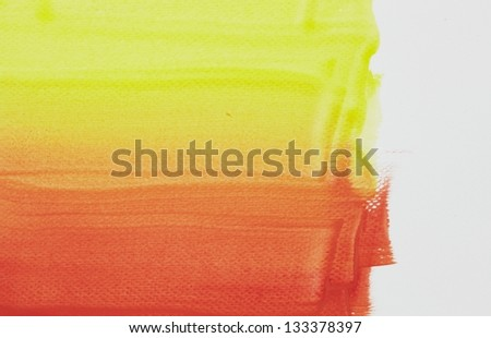 Orange abstract watercolor macro texture background. Colorful handmade technique - stock photo