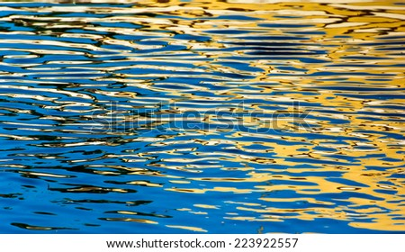 orange and blue water level - stock photo