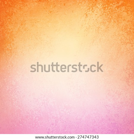 orange and pink blurred background design with texture - stock photo