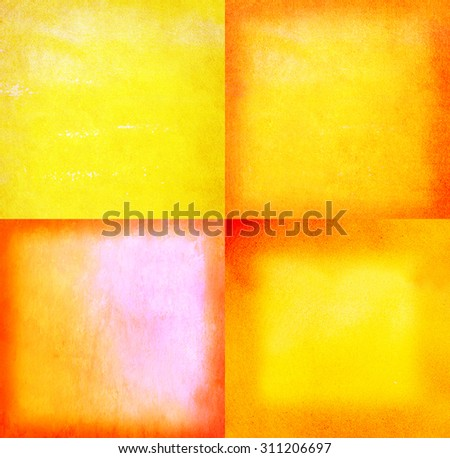 orange and yellow abstract graphic design - colored textured background - stock photo