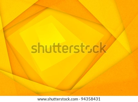 orange and yellow abstract paper background - stock photo