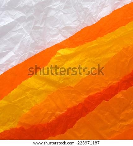 orange and yellow paper design - stock photo