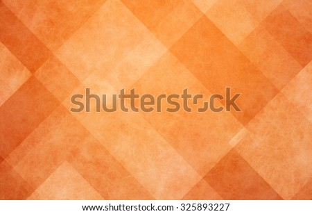 orange autumn background, halloween and Thanksgiving color, abstract background with angled lines, blocks, squares, diamonds, rectangles and triangle shapes layered in checkered style abstract pattern - stock photo
