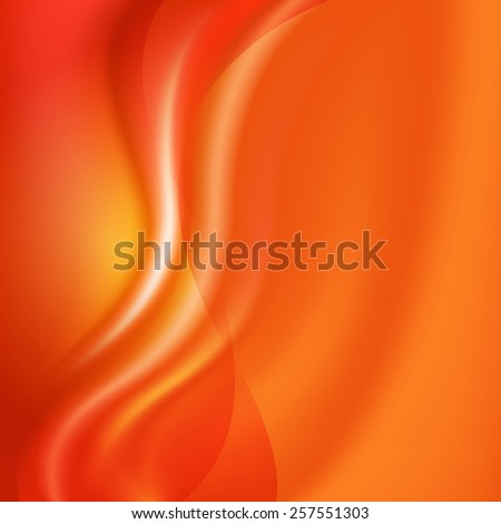 Orange Background With Line - stock photo