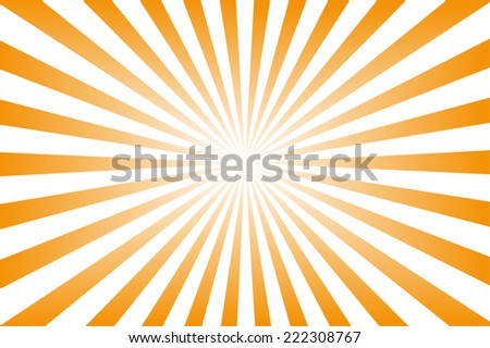Orange background with sun rays. - stock photo