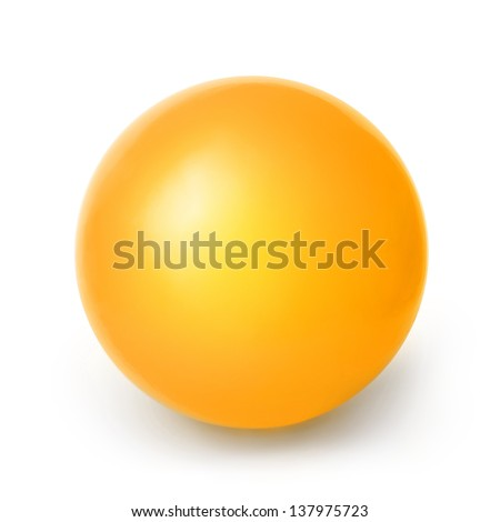 Orange ball isolated on a White background with clipping path - stock photo