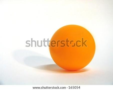 orange ball with shadow - stock photo