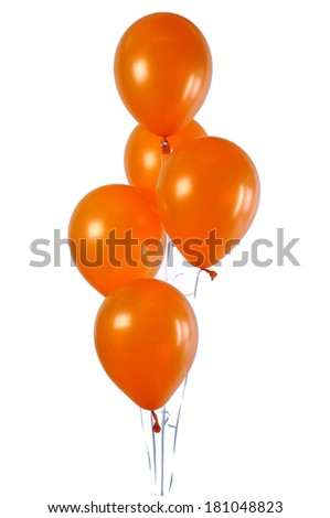 orange balloons  - stock photo