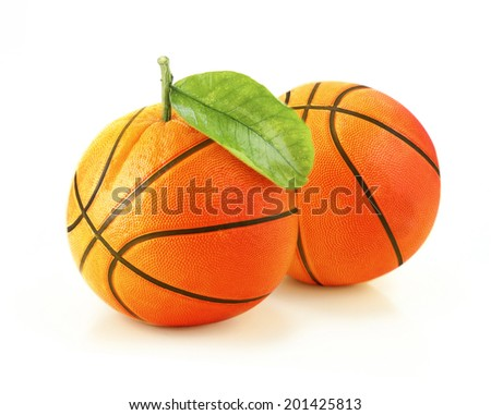 Orange basketball! creative concept. - stock photo