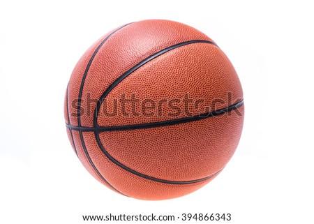 Orange basketball or basket ball isolated on white background - stock photo