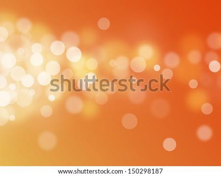 orange bokeh abstract light backgrounds - stock photo