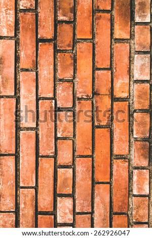 Orange Brick texture - stock photo