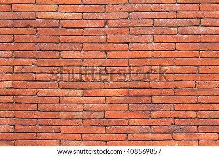 Orange brick wall. brick texture. brick pattern. Part of brick wall for background and design with copy space for text or image. - stock photo