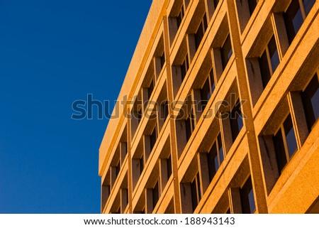 Orange Building - stock photo