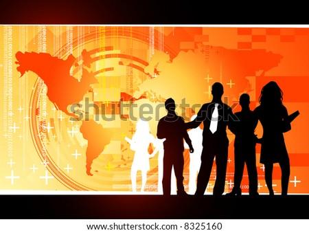 Orange business Concept - stock photo