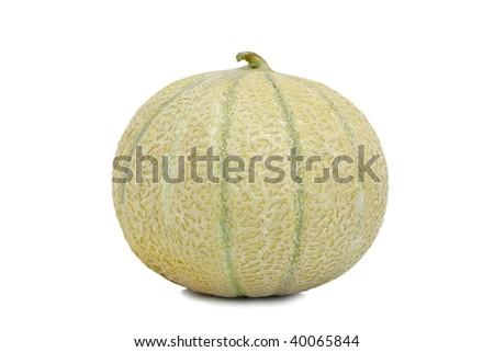 Orange cantaloupe melon isolated on a white background. - stock photo