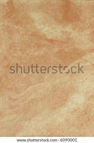 Orange ceramic tile with fluid texture - stock photo