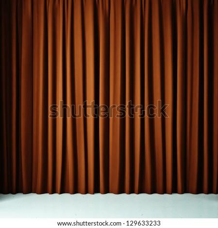 Orange cloth - stock photo
