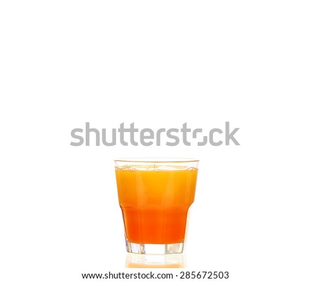 Orange cocktail cutout, isolated on white background - stock photo
