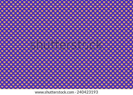 Orange Colored Heart Shape with blue background - stock photo