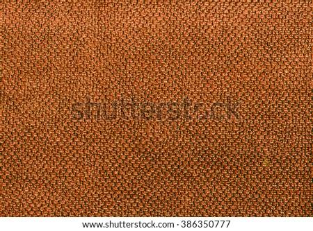 Orange cotton towel texture. Background and texture. - stock photo
