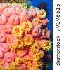 Orange Cup Coral (Tubastraea coccinea) - stock photo