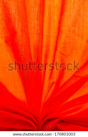 Orange curtain - stock photo