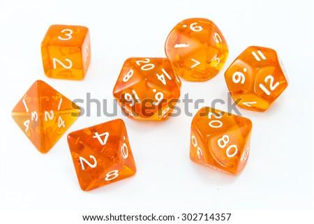 orange dice set - stock photo