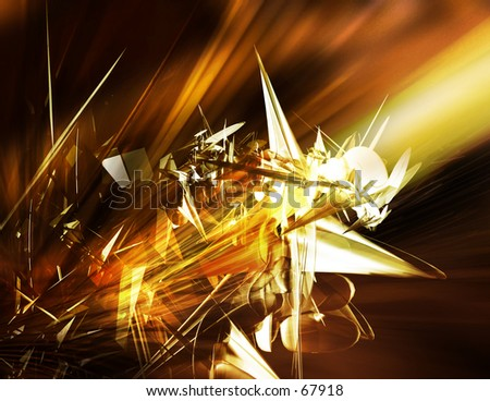 Orange Digital Illustration - stock photo