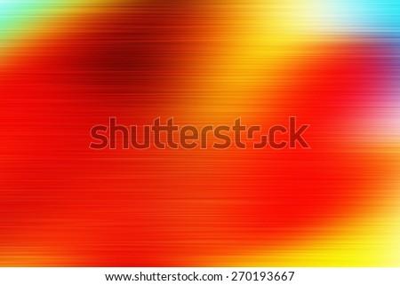 orange digitally generated image of colorful black background with horizontal speed motion lines - stock photo
