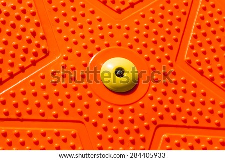 Orange Disk for Fitness Texture - stock photo