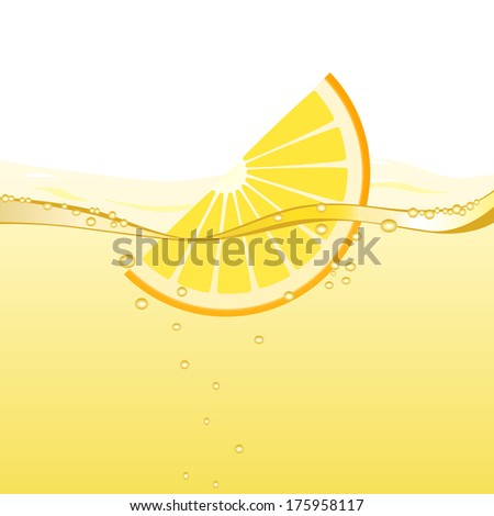 Orange drink (raster version; available as vector too) - stock photo