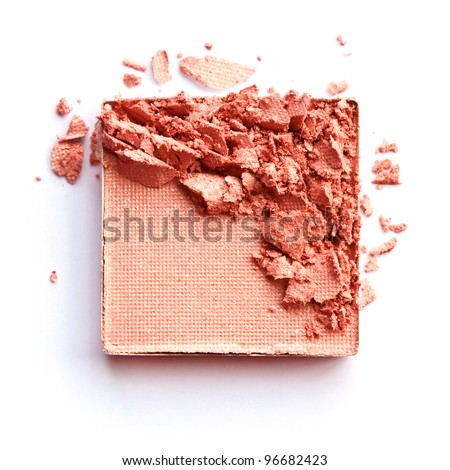 Orange eyeshadow - stock photo