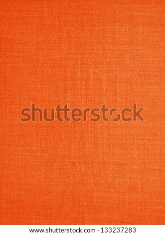 orange fabric texture background - stock photo
