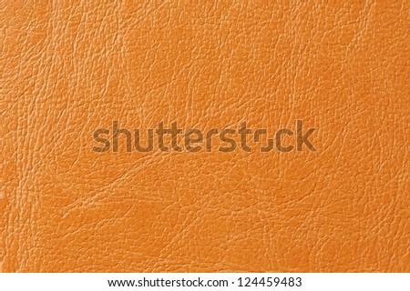 Orange Faux Leather Background Texture - stock photo