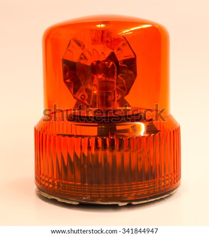 Orange flasher - stock photo