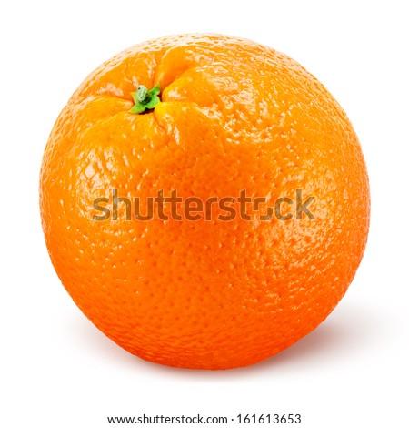 Orange fruit isolated on white - stock photo