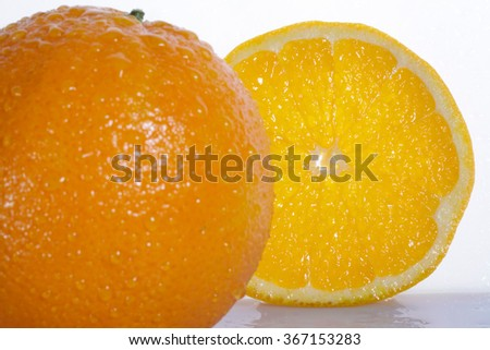 Orange fruit on white background - stock photo