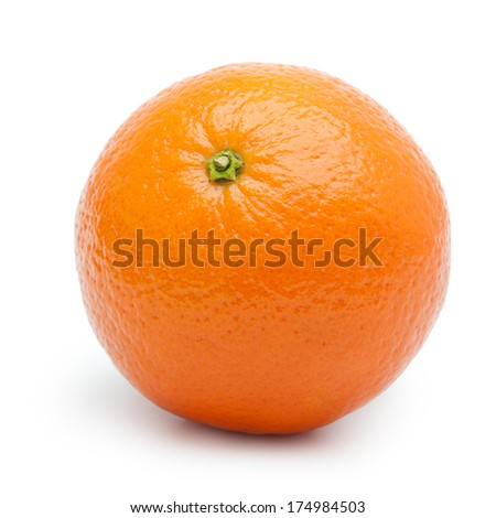 Orange fruit, tangerine,citrus isolated on white background. - stock photo