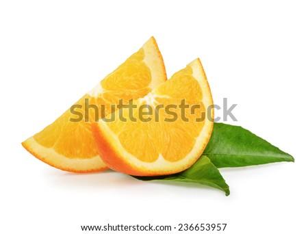 Orange fruits isolated - stock photo