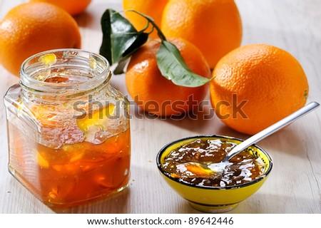 Orange homemade jam - stock photo