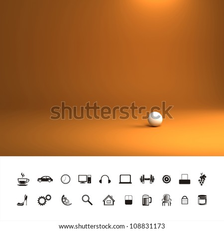 Orange hot background. - stock photo
