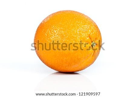 Orange isolated on white - stock photo