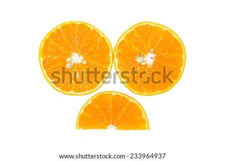 Orange isolated on white background. - stock photo