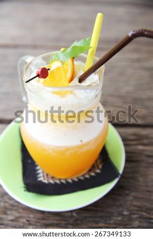 Orange juice - stock photo