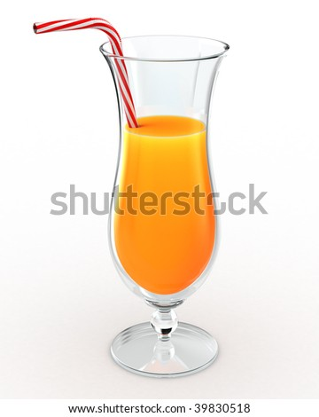 Orange juice drink - stock photo