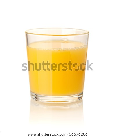 Orange juice. Isolated on white background - stock photo