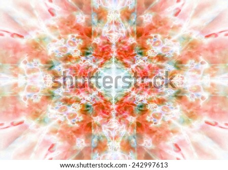 Orange kaleidoscope background pattern - stock photo